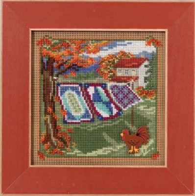 CS Kit Mill Hill Buttons & Beads Autumn Series Country Lane Country Quilts