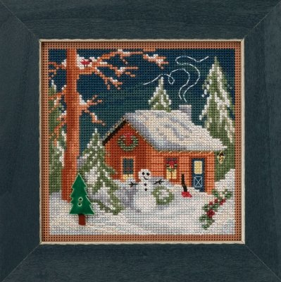 CS Kit Mill Hill Buttons & Beads Winter Holiday Christmas Cabin