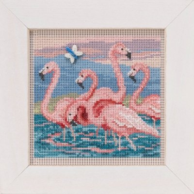 CS Kit Mill Hill Buttons & Beads Spring Flamingos