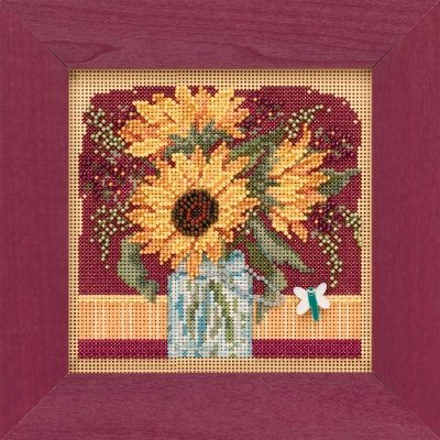 CS Kit Mill Hill Buttons & Beads Sunflower Bouquet