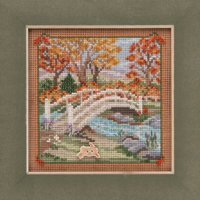 CS Kit Mill Hill Buttons & Beads Autumn Country Lane Foot Bridge