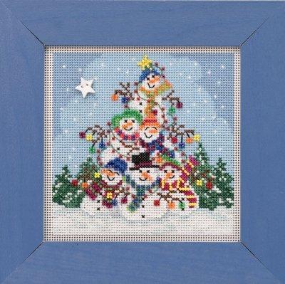 CS Kit Mill Hill Buttons & Beads Winter Snowman Pile