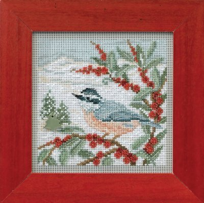 CS Kit Mill Hill Buttons & Beads Winter Nuthatch