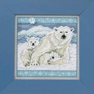 CS Kit Mill Hill Buttons & Beads Winter Polar Bears