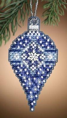 CS Kit Mill Hill Christmas Jewels Charmed Ornament  Sapphire Snow