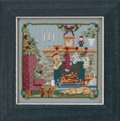 CS Kit Mill Hill Buttons & Beads St. Nick The Stockings Were Hung