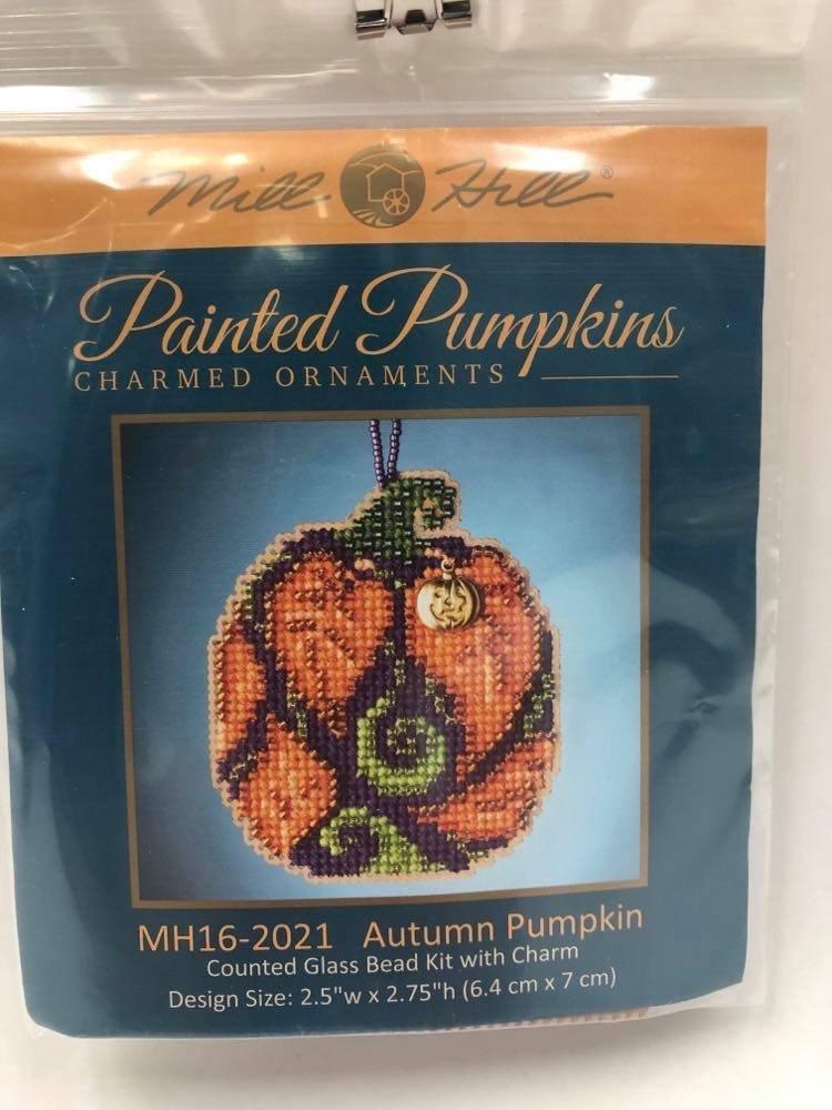 Mill Hill Painted Pumpkins Autumn Pumpkin