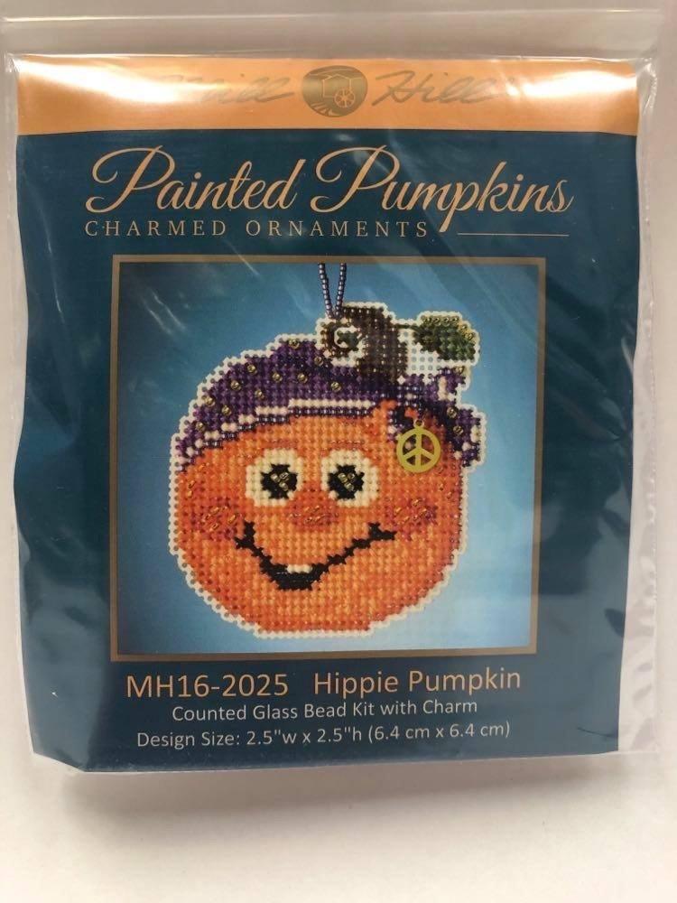 Mill Hill Painted Pumpkins Hippie Pumpkin