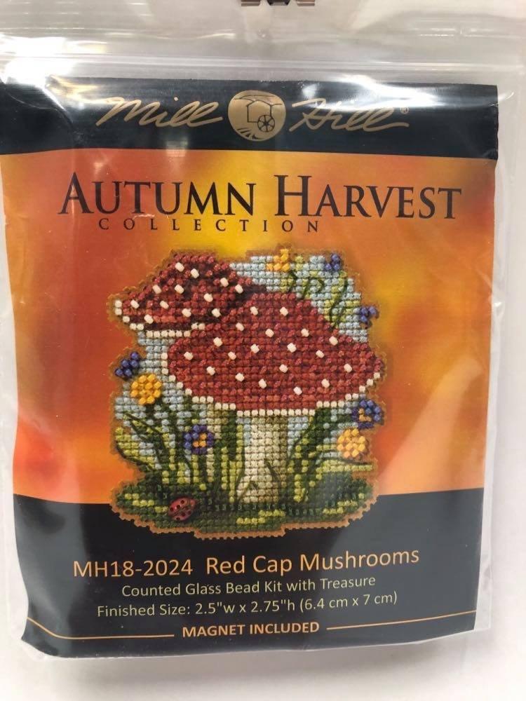 Mill Hill Autumn Harvest Red Cap Mushrooms