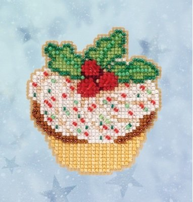 Mill Hill Winter Holiday Holly Cupcake