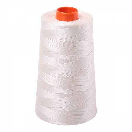 Aurifil Mako Cotton Embroidery Thread 50wt 6452 yds 2309 Silver White
