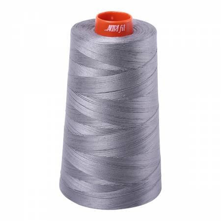 Aurifil Mako Cotton Embroidery Thread 50wt 6452 yds 2605 Grey