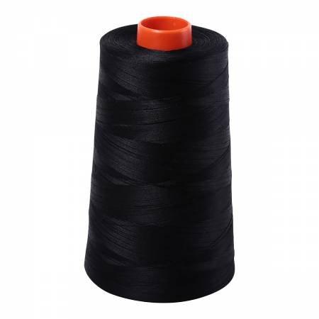 Aurifil Mako Cotton Embroidery Thread 50wt 6452 yds 2692 Black