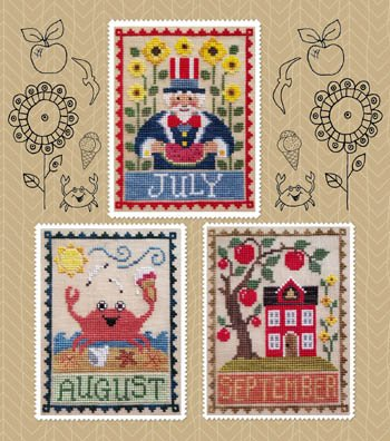 PT CS Waxing Moon Designs Monthly Trios:  July, August, September