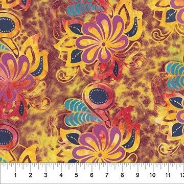 Northcott Flower Power Sunflower