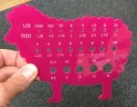 Acrylic Sheep Gauge