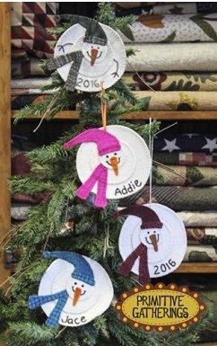 Kit Primitive Gatherings 2016 Snowman Ornament