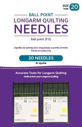 Needles - Handi Quilter Ball Point 20/125-FG 20/pkg