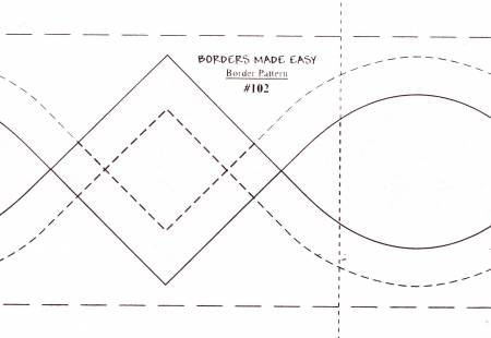 Borders Made Easy #102 Continuous Border  3 x 26'