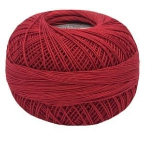 Lizbeth Size 20 Christmas Red 671