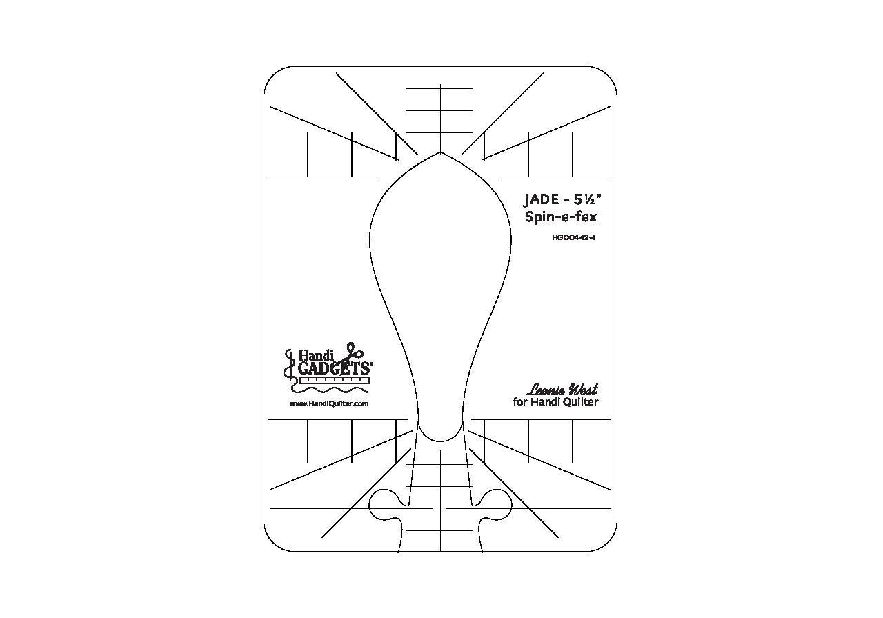 Handi Quilter Ruler JADE Spin-e-fex 5.5