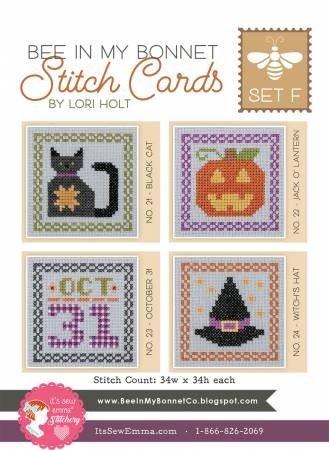 PT CS Bee In My Bonnet Stitch Cards Set F