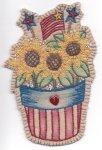 PT HE Chickadee Hollow Patriotic Sunflower