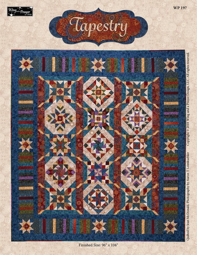 Kit Q Tapestry Complete Quilt Top