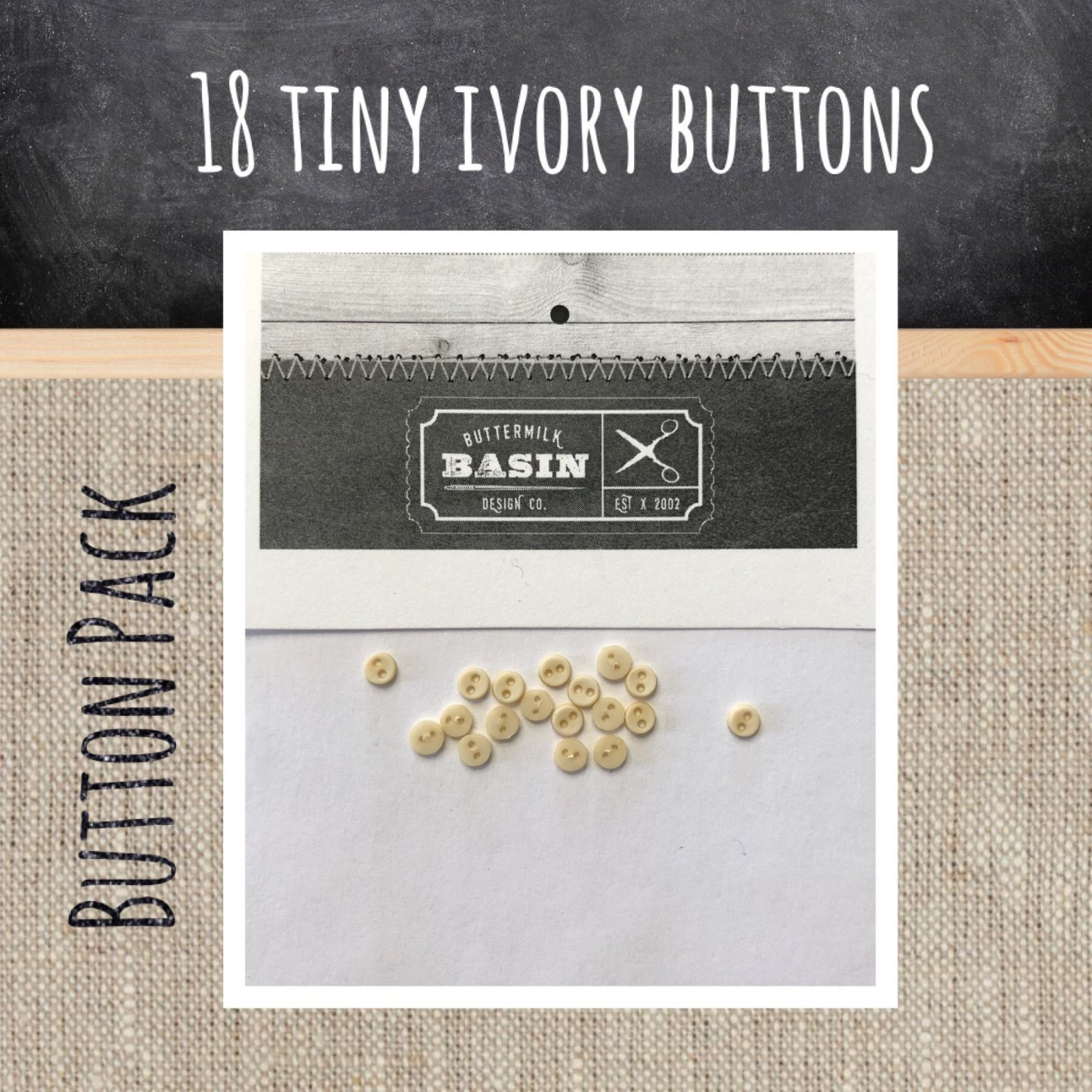 BMB 3mm Button Pack Ivory
