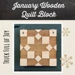 BMB January Wooden Quilt Block