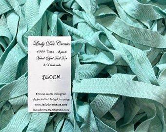 Lady Dot Creates Twill Tape Summer Blooms