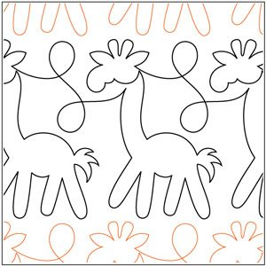 Quilting Creations Int'l Animal Crackers Border Giraffes Pantograph