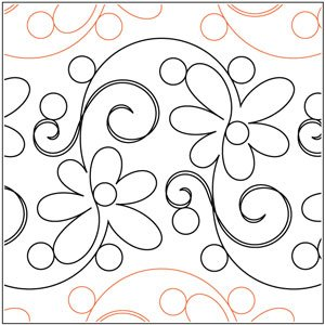 Quilting Creations Int'l Daisy Doodle Pantograph