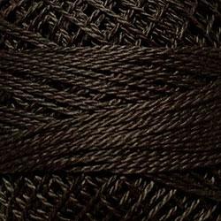 Valdani SZ12 Pearl Cotton Solid Brown Black Med 8122