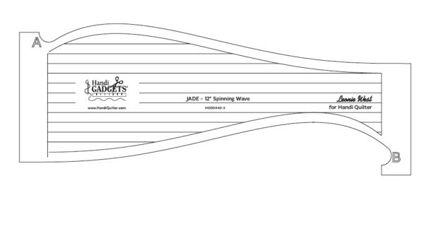 Template Handi Quilter 12 JADE Spinning Wave