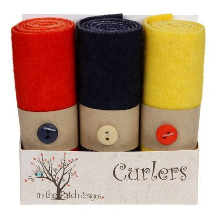 Wool Curlers 4 in x 16 in. Poppies