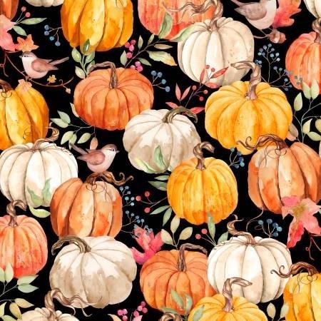 Wilmington Autumn Day Pumpkins Black