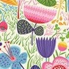 Clothworks Helen's Garden Cream