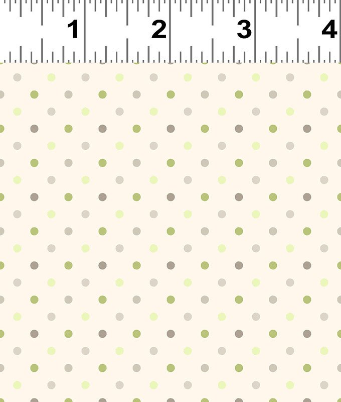 Clothworks Guess How Much I Love You Flannel Light Cream Dot