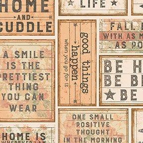 Clothworks Love Lives Here Strip Rolls