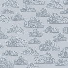 Clothworks Jungle Fever Light Gray Clouds