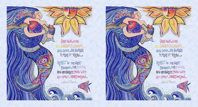 Panel - Clothworks Sea Goddess Lt. Periwinkle