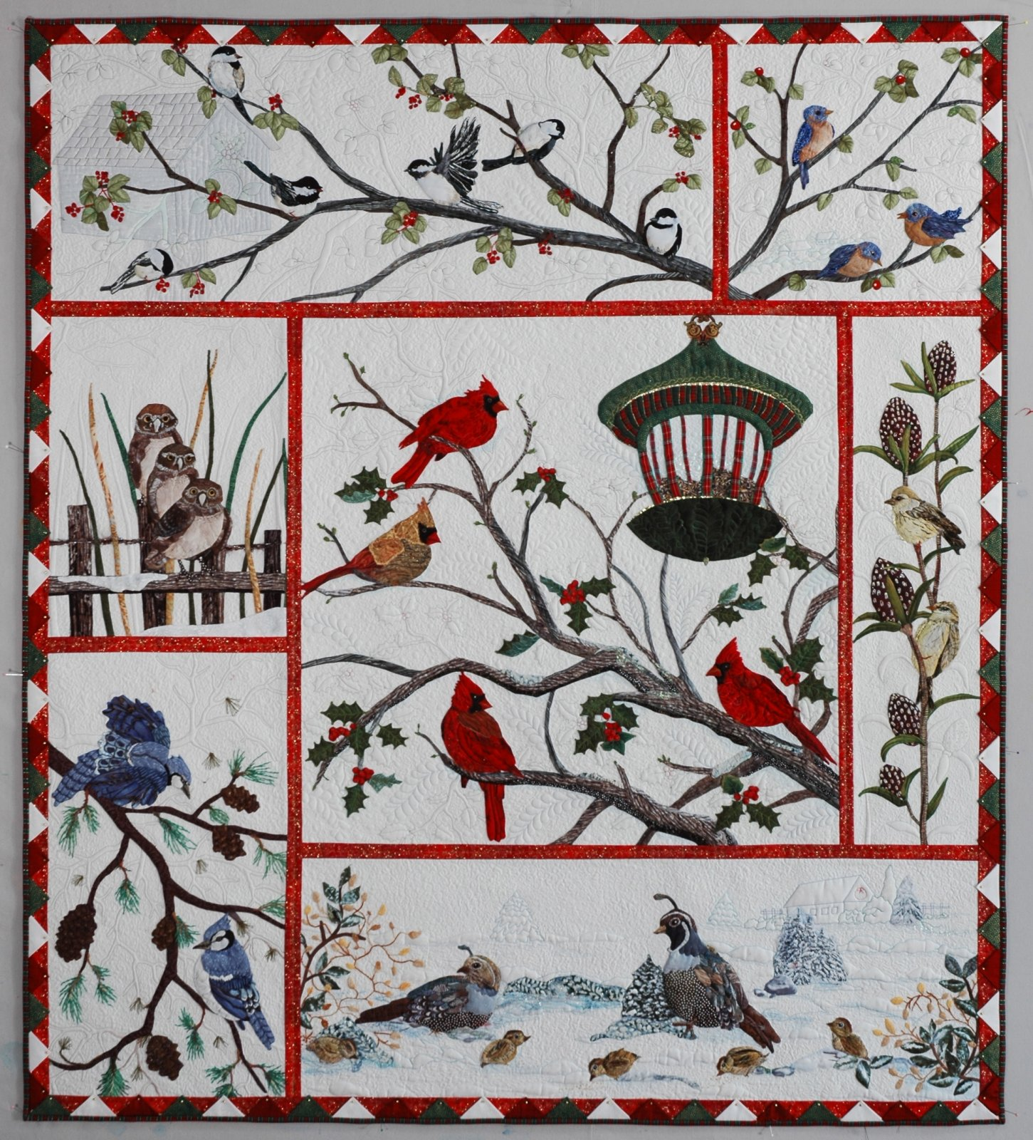 Audubon's Christmas/ Entire Quilt pattern