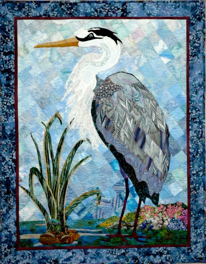 Heron pattern with BASIC Apliquick Kit