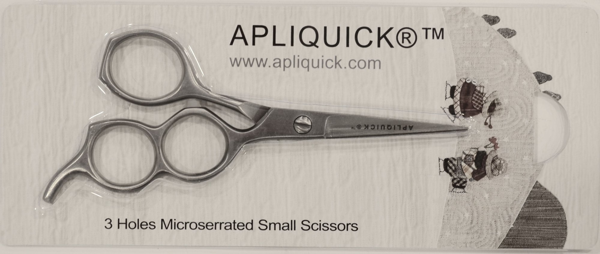 Ten 3 hole medium scissors