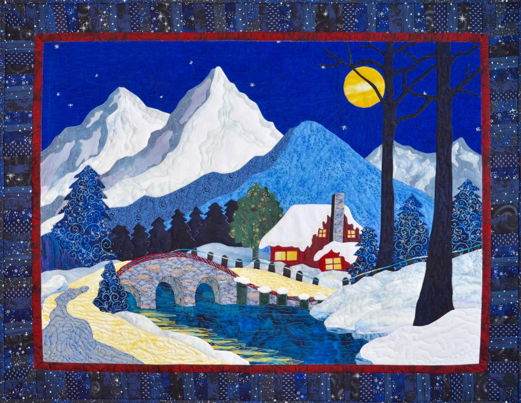 Winter cabin pattern
