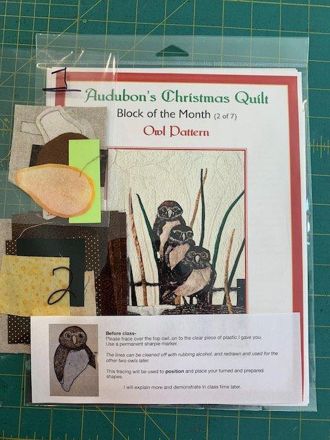 Owl pattern/fabric kit