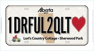 1DRFUL2QUILT Licence Plate