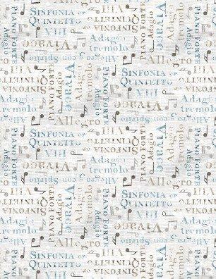 Interlude - Words Light Grey 24055-142