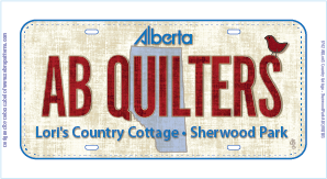 AB Quilters Licence Plate